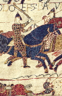 Bayeux tapestry showing medieval colours and dyes